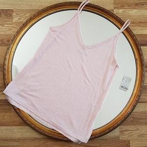 NEW Mudd Pink Tank Spaghetti Strap V-Neck Size S
